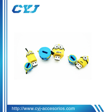 USB disk for Dispicable Me Minion design,cartoon shape USB disk promotional gift