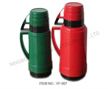 Hot sale! Plastic 1800ml Eagle vacuum flask with two cups, PP outside and glass inner