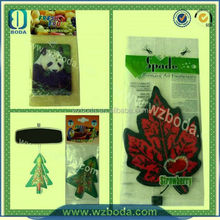 Top Quality Advertising Cheap Paper Advertising Cheap Hanging Car Air Freshners