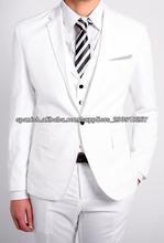 3 piezas traje blanco para los hombres