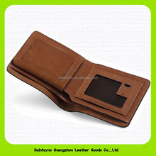 15602B Top quality metallic fibre RFID blocking men genuine leather RFID safe wallet