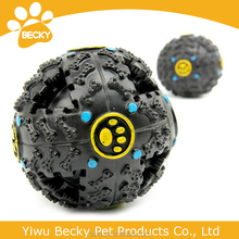 Pet Dog Cat Play Squeaky Quack Sound Chew Treat Feeder Funny Ball Toy