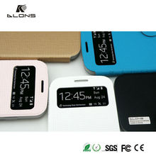 leather phone case,mobile phone leather case,s view flip case cover for samsung galaxy s4 i9500 DLONS