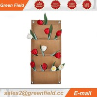Kraft paper wall planter, vertical garden wall planter Kraft paper planting bag