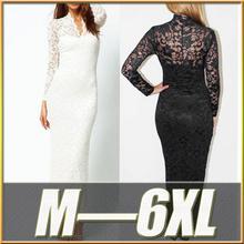 Cheap Plus Size Women Clothing 2015 Women Summer Chiffon Ladies Long Lace Evening Dress