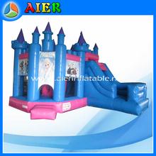 Inflatable princess bouncy castle for girls, kids inflatable bouncy castle, Frozen Inflatable bouncy castle