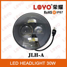 """30w strong power 12V 24V 7"""" round led headlight Hi and low beam for Jeep"""