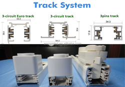 Shenzhen Manufacturer LED Track Spot Lighting 4 Wire 1.2 Meter Rail Track, Aluminum 6063 High Quality Track Lighting System