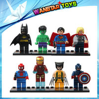 Super heroes figures blocks small building blocks 8 models mix SY180
