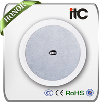 ITC T-206B Economical 10W 6 inch Hi Fi PA System In-ceiling Speakers
