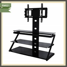 "All Black Glass TV Stand for 32""-46"" Plasma/LCD Television RM021"
