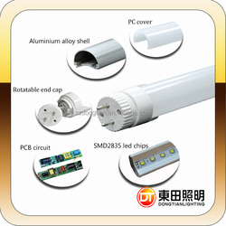 Dongtian LED tube tube8 japanese in colorful box can be by DHL or by ship 2835,4014SMD for it 26mm*1200mm or 2400mm DTR831NW&WW
