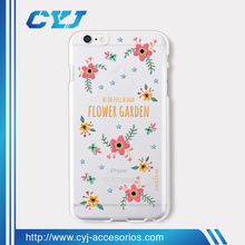 Hot selling 3D sublimation transparent print tpu or pc phone case for iPhone 5 6