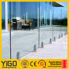 pool fence los angeles/glass fence panels for balcony