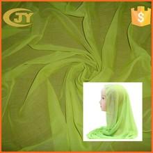 100% polyester spun voile woven fabric