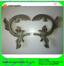 Wrought Iron Double Style Ornamental Forged Steel Leaves Wholesale