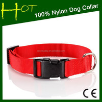 Plain Nylon Dog Collars For Dog Training and Hunting wholesale
