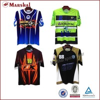 Full sublimation logos customized cheap football jersey