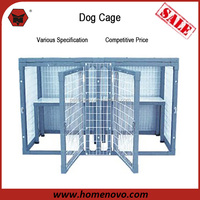 """Double Protection Removable 44""""Wx26""""Hx22""""D Metal Galvanized Dog Kennel With Two Shelves"""