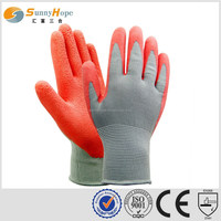 sunnyhope latex foam garden gloves dots