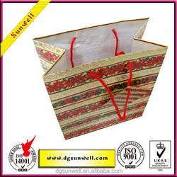 Wholesale importer of chinese goods gift bag& a4 size big bag for shopping whit logo printed