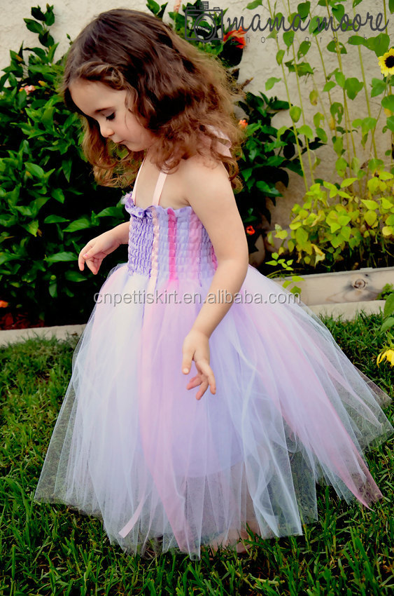 Pretty Child Prom Dress Fashion Lace And Tulle Ball Gown Purple ...