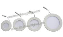 LED factory 4inch/6inch/7inch/8inch/9inch led ceiling light impacted 15w round panel light