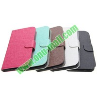 Vertical Stripes Leather flip case for samsung galaxy s4 active with best quality and factory price