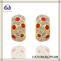 Red Paint Spray Earring Fake Diamond Earring Glow Earrings For Women