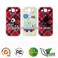 Mobile phone PC case for Samsung S3 cover with emboss printing
