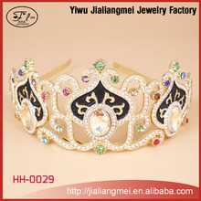 Wholesale hair accessories black crystal tiaras crowns