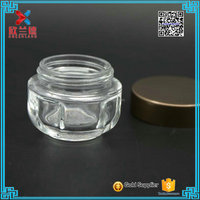 2016 new 1oz/30g unique shape medicated cosmetic container glass body cream jar