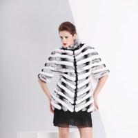 lady's fashion rex rabbit fur coat /wholesale and retail