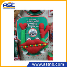 2015 new design most beautiful big red mouth car dress up kit for holiday and chrismas decoration