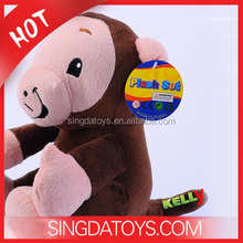 Wholesale Safe Material Baby Early Education Monkey Plush Toy