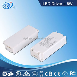 Chinese supplier 6v 1a LED driver for LED down light with white enclosure