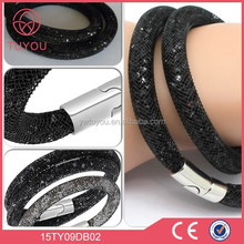 Fashion party magnetic bracelet, crystal mesh clasp star dust bracelet