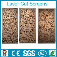 interior decoration laser cut metal screen room divider for sale