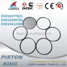 Heavy truck D5010477821 piston ring 62mm daf piston ring