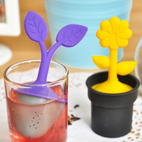 Hot Sale Durable and Heat-resistant Loose Leaf Pot Plant Silicone tea strainer