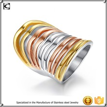 cheap wholesale stainless steel multilayer finger ring
