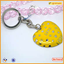 High quality metal key chain,heart shape pendant key chain charms wholesale# 15779
