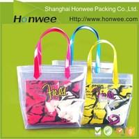 Custom large waterproof cheap transparent plastic pvc beach bags