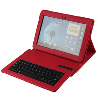 Foldable Leather Bluetooth Wireless Stand Keyboard flip cover case for tablet