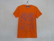 100% Cotton O-Neck Orange Printed T-Shirt, Sport screen by Envy Design
