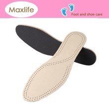cow skin air hole insole,moisture absorbent insole,latex and leather insole