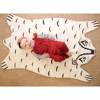 2015 Roxymarj Bear Blanket Baby Blanket On The Sofa And Chair Cute Carter Animal Carpet Baby Quilted Jacket 45X26''