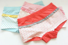 Eco-friendly printed baby training panties for little girls , baby girls underwear