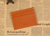 Italian leather men wallet genuine credit card holder