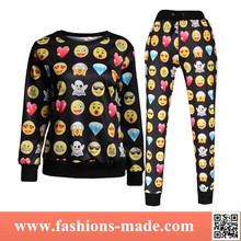 2015 Womens' Emoji Patterns Hoodies Sweat Suits Fashion New Style Wholesale for